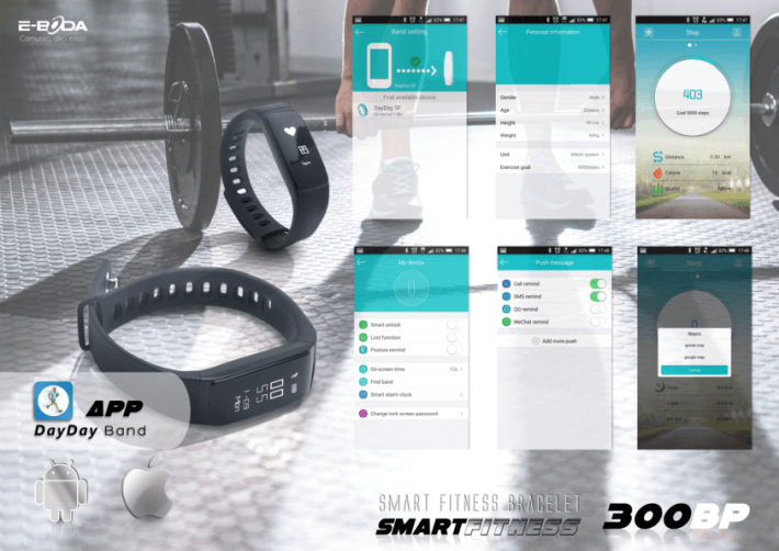 Bratara Fitness E-BODA Smart Fitness 300 BP