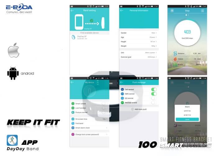 Bratara Bluetooth SmartFitness 100